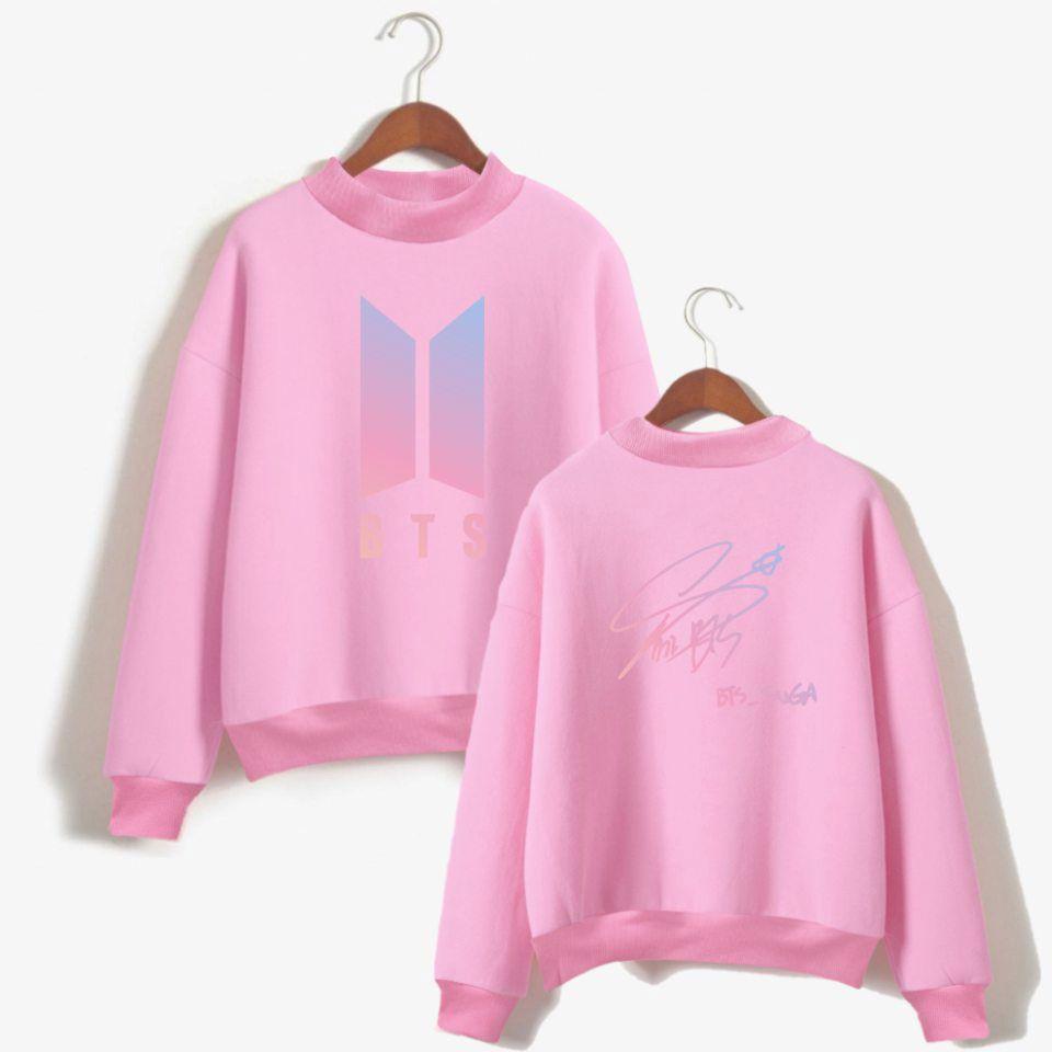 350b11e0a64d 2019 BTS Bangtan Boys K Pop Member Signature Unisex Love Yourself  Turtleneck Sweatshirt Women Fashion Clothes Jin J Hope Jungkook From  Darnelly