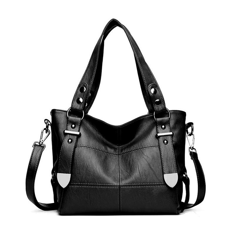 Bags For Women Luxury Handbag Shoulder Bag Casual Shopping Tote PU Leather Handbags Double Arrows Solid Bag