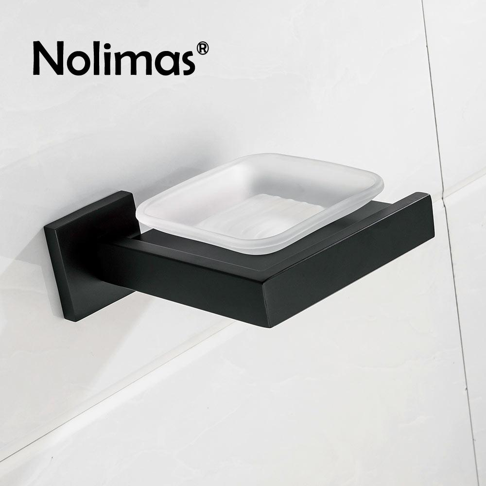 2018 Sus 304stainless Steel Black Bathroom Soap Holder With Glass ...