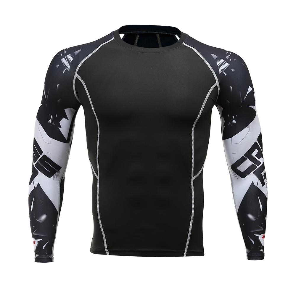 40a23446be3 Mens Fitness Long Sleeves Rashguard T Shirt Men Bodybuilding Skin Tight  Thermal Compression Shirts MMA Crossfit Workout Top Gear Funny Shirt Cotton  T Shirts ...