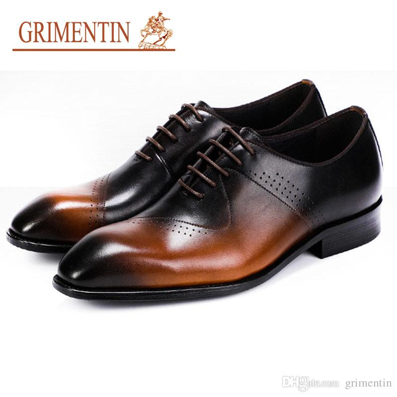Men's Shoes Italian Designer Oxford Vintage Dress Shoes Brand Genuine Leather Men Casual Shoes Male Business Wedding Shoes Plus Size Oxfords