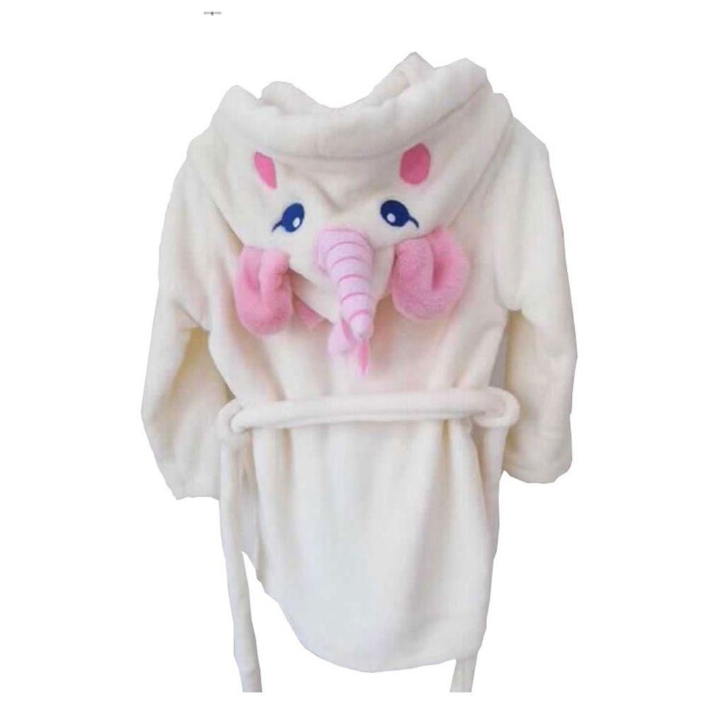 New Spring and Summer White Korean Flannel Bathrobe Tracksuit Cartoon Unicorn Warm Soft Girls Nightgown Bathrobes