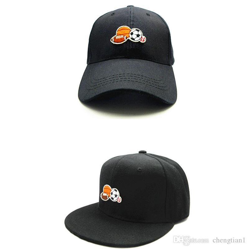 6765df6aa34c9 2018 Ball Embroidery Cotton Baseball Cap Hip-hop Cap Adjustable ...