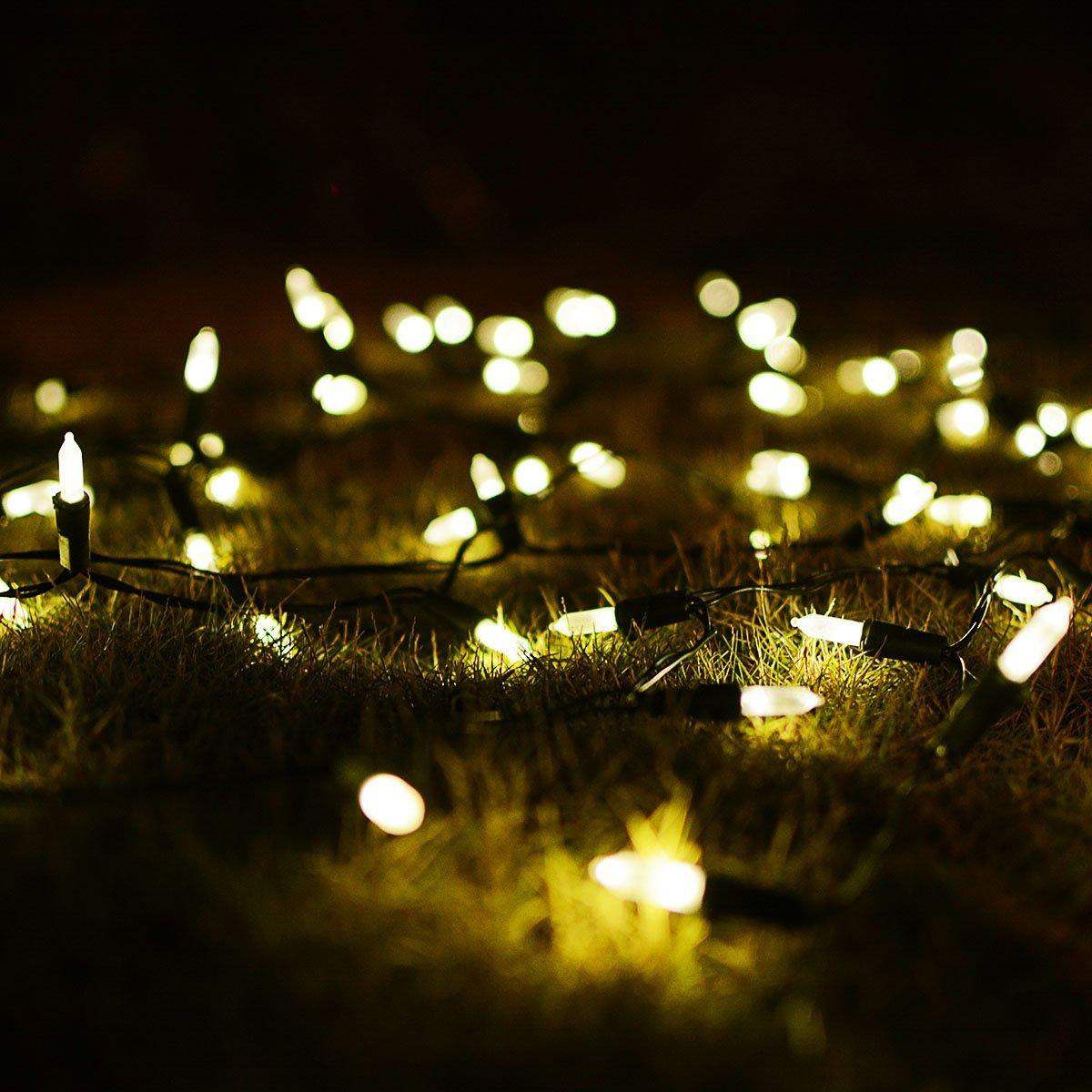 solar string lights 50 led warm white clear mini fairy christmas outdoor garden solar string outdoor lighting wedding decoration fairy christmas solar
