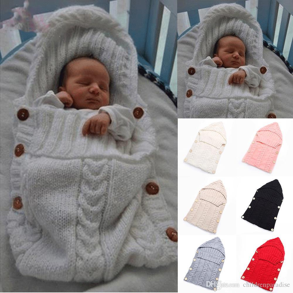 8ac9eb62a50f Baby Woolen Addle Wrap Blanket Envelope for Newborn Infant Girls ...