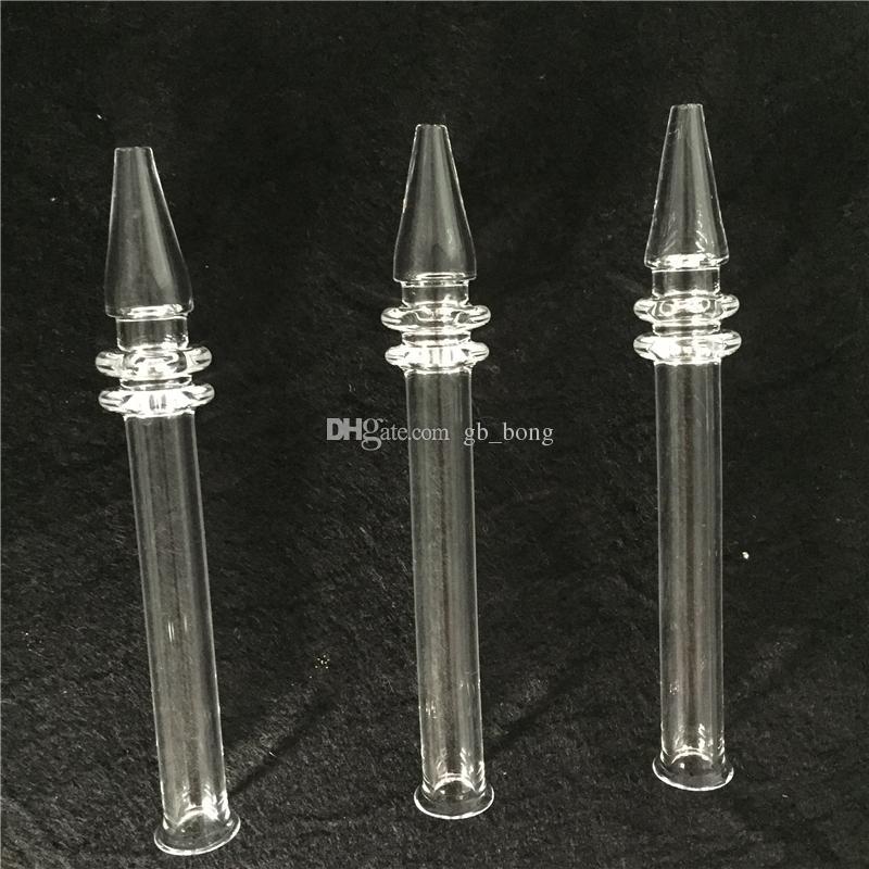 Yeni Varış Mini Nektar Toplayıcı ile Kuvars Tırnak 5 Inç kuvars Filtre İpuçları Tester Kuvars Saman Tüp Cam Su Borular Sigara aksesuarları