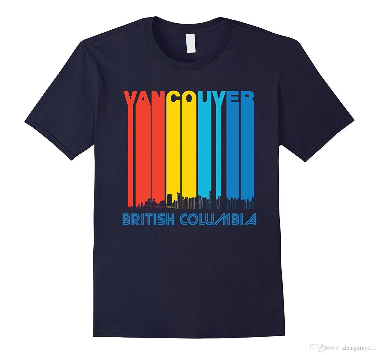 5e38edb6 Vintage Vancouver BC Canada Skyline Cityscape T Shirt Coolest T Shirts  Online Buy Shirt Designs From Zhangxinye11, $13.12| DHgate.Com