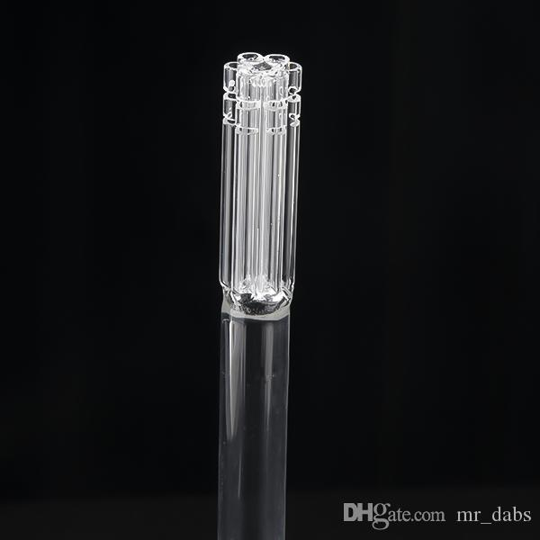 6 armed glass downstem diffuser with 19mm female to 19mm male joint glass down stem for glass bongs water pipes