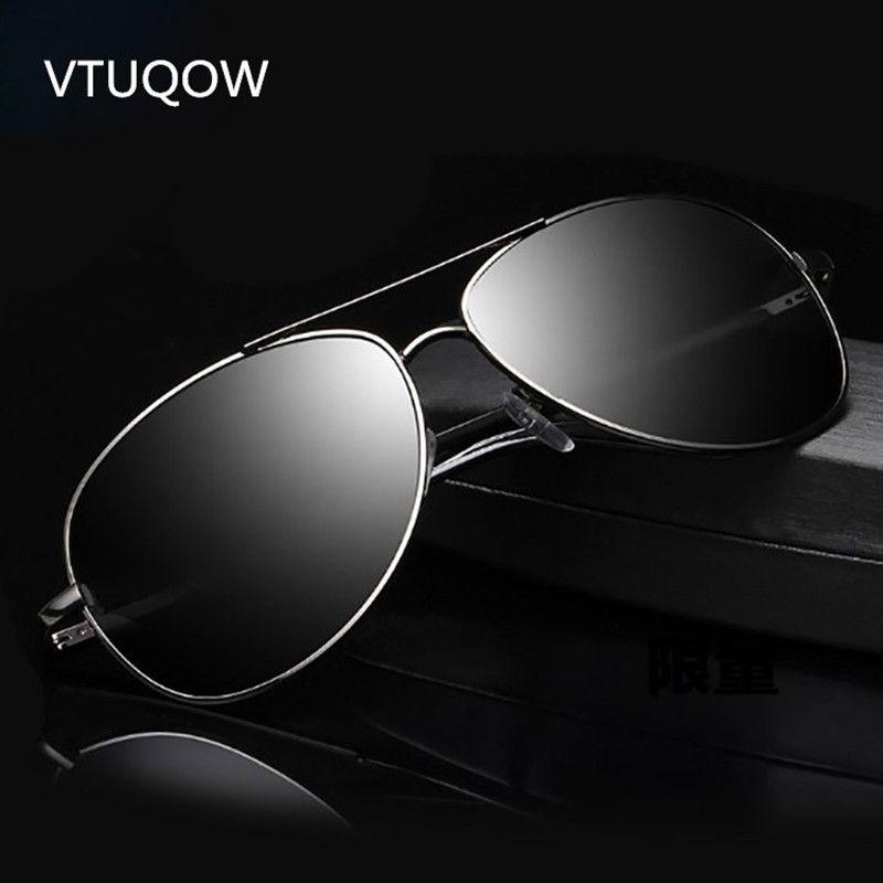 41e7ec8cda Retro Pilot Sunglasses Men Brand Designer Vintage Polarized Lens Outdoor  Fishing Driving Sun Glasses For Male Oculos UV400 2019 Bifocal Sunglasses  Retro ...