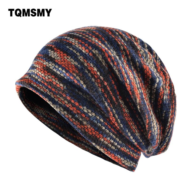 45c9386d20a TQMSMY Lengthened Skullies Knitted Wool Hat Men S Winter Cap Keep Warm  Beanies Men Bonnet Plus Velvet Hats For Women Bone Gorro S1020 Winter Hats  Beanie ...