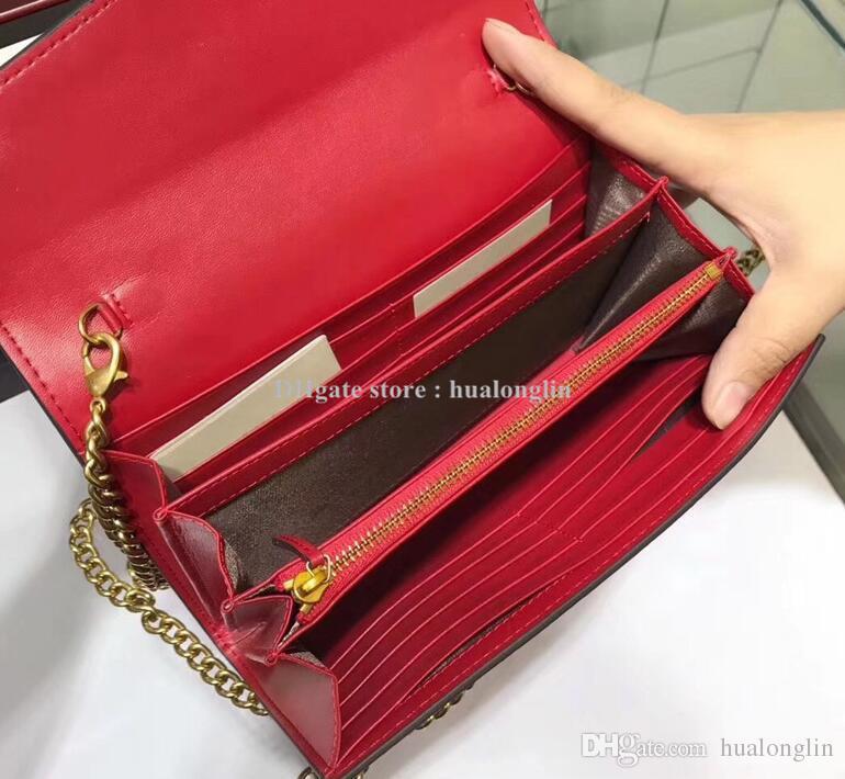 Оригинальные коробки Кожа Сумка кошелек крест тела мешок плеча женщин Женщины сумка Новая оригинальная коробка мода кошелек леди