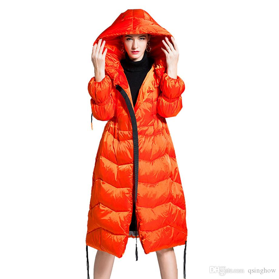 f53e2fdb6262 2019 High Quality Women Max Long Coat White Duck Down Padded Jacket Winter  Fashion Outdoor Wear Clothes Garment Dress From Qsinghow