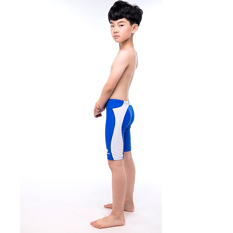 018763ae4f5 2019 Boys Swim Trunks Flat Long Section Professional Boys Swimwear ...