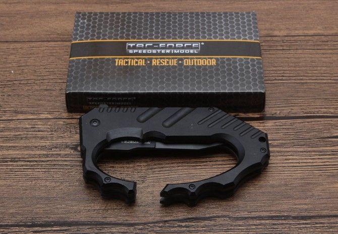 Livraison gratuite, couteau TF750 camping en plein air chasse couteaux pliants EDC outil 440C lame en aluminium poignée livraison gratuite