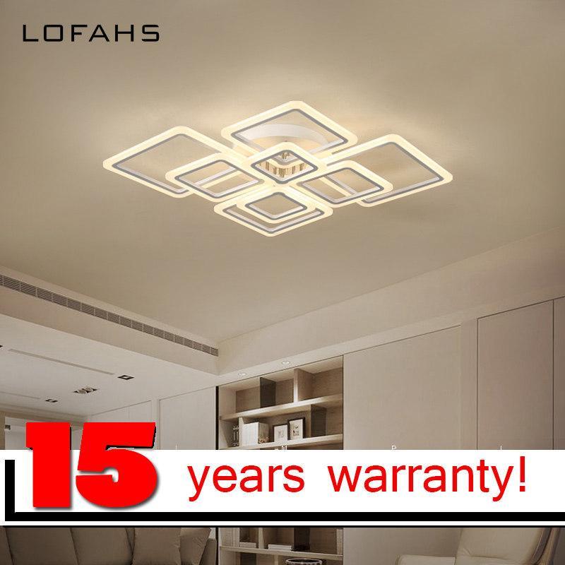 LOFAHS Modern acrylic LED ceiling light Overlapping frames large luxury  ceiling lamp for living dining bed room luster avize