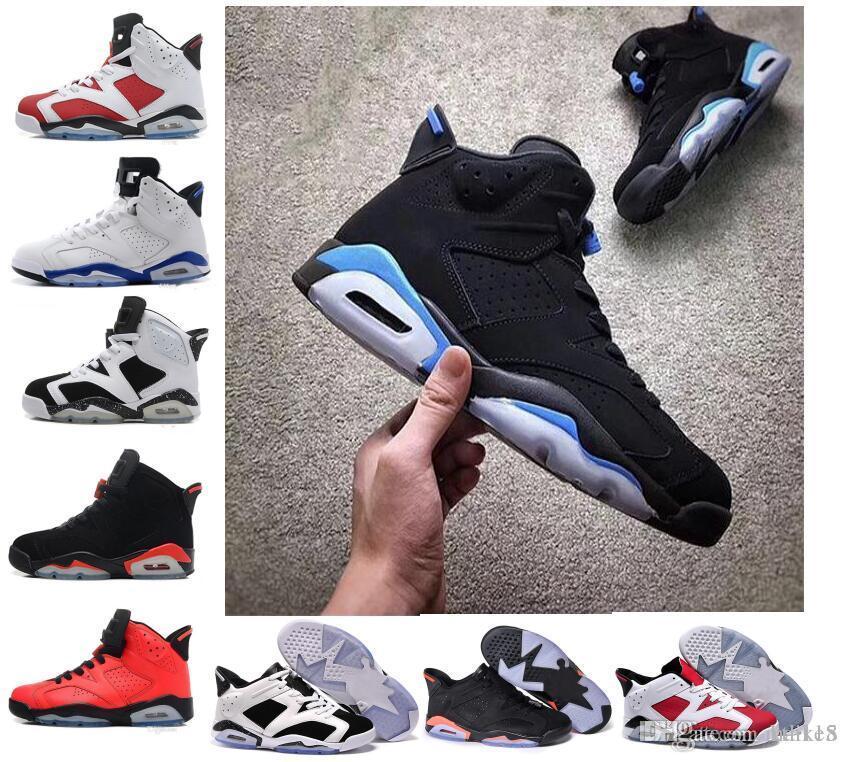 da3773fa77784c 2018 6 Carmine Basketball Shoes Classic 6s UNC Black Blue White Infrared  Low Chrome Women Men Sport Blue Red Oreo Alternate Oreo Black Cat  Basketball Shoes ...