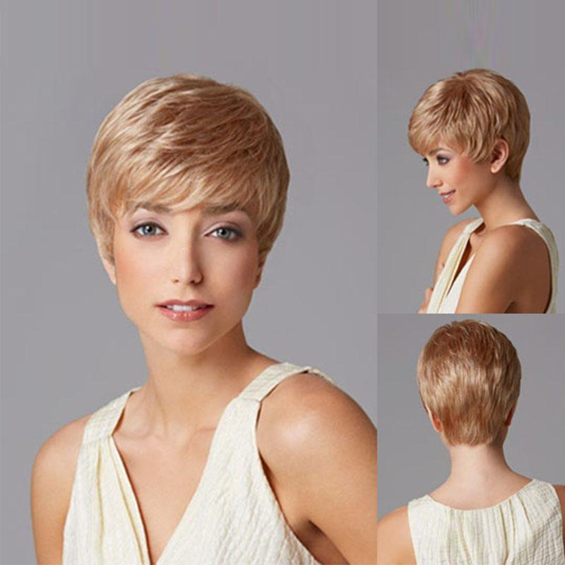 2018new Arrival Hair Beautiful Boy Fashion Cut Short Pixie Wigs For