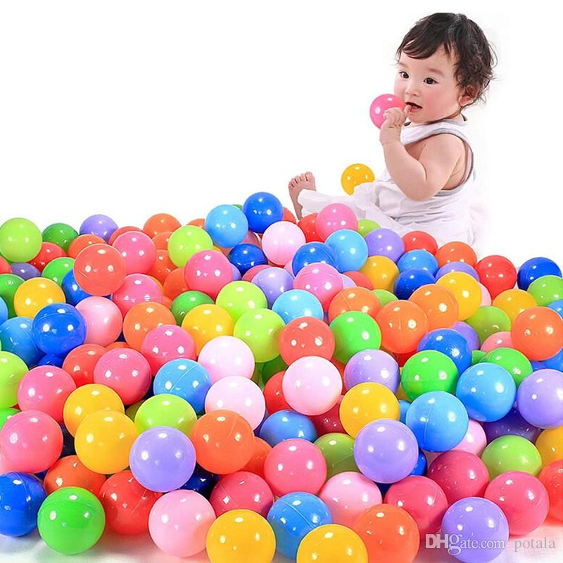 5.5CM Marine Ball 2.2inch Sand Play Water Fun Children's Amusement Equipment Swimming Ball Toy Rainbow Ball Sports Outdoor Kids Toy Gift Red
