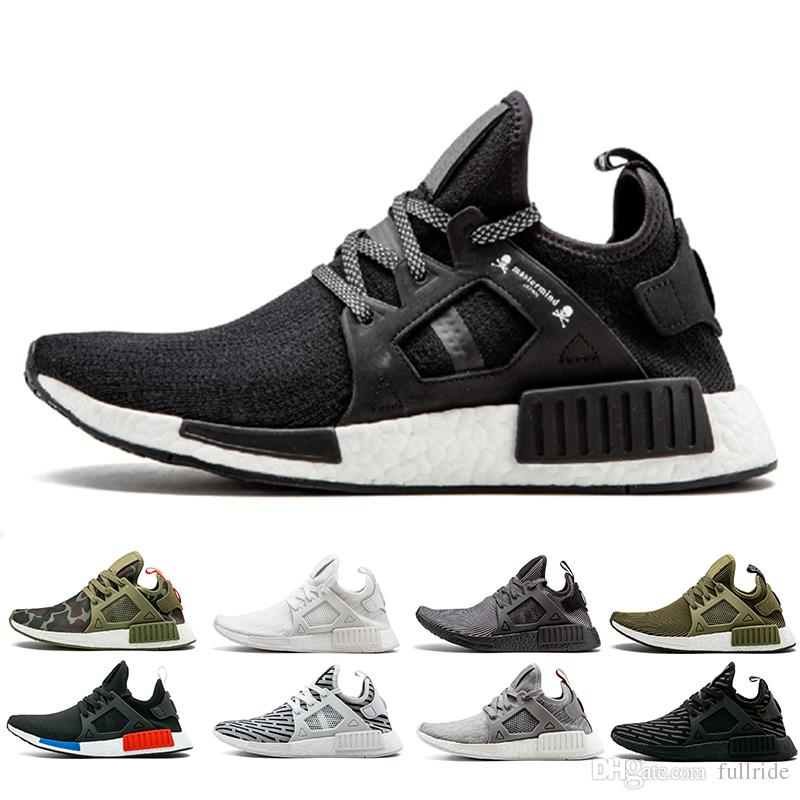 d464a463e6ba 2018 New NMD XR1 Mens Running Shoes OG Mastermind Japan Triple Black White  Zebra Olive Camo Men Women Primeknit Sports Sneakers Size 5 11 Womens Trail  ...