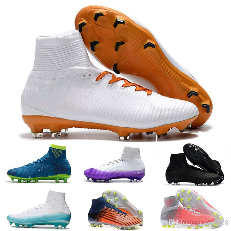 195f58282e26 2019 2018 Original Cristiano Ronaldo Mercurial Superfly FG CR7 Soccer Shoes  Mens Cheapest Training Sneakers Mercurial New Style Football Boots From  Sports08 ...