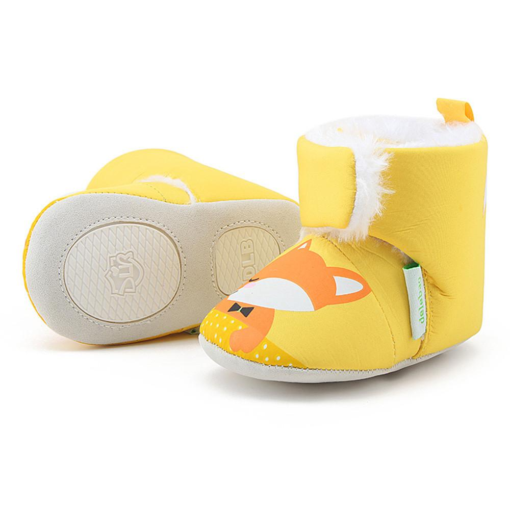 ebf915b96cf08 2019 Yellow Color Baby Girl Boy Soft Sole Booties Snow Boots Infant Toddler  Newborn Anti Silp Prewalker Baby Shoes 0 18 Month  ES From Humom