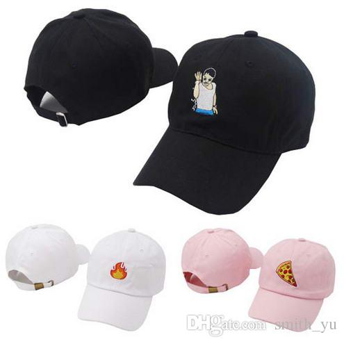 785650c660d Fashion 2018 Summer Strapback Caps Pizza Fire Dad Hats Men Women ...