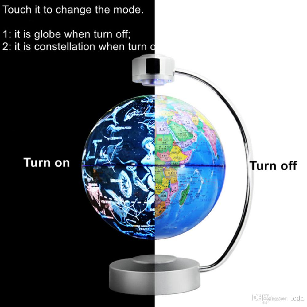 2018 8 Inch Magnetic Levitating Floating Globe With Led Lights For Learning  Education Teaching Demo Home Office Desk Decoration Blue From Ledh, ...