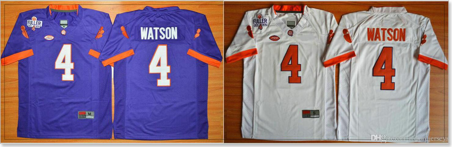e1e1240f243 2019 Clemson Tigers #4 DeShaun Watson For Kids College American Football  Vintage Youth Sports Shirts Team Pro Jerseys Stitched Embroidery On Sale  From ...