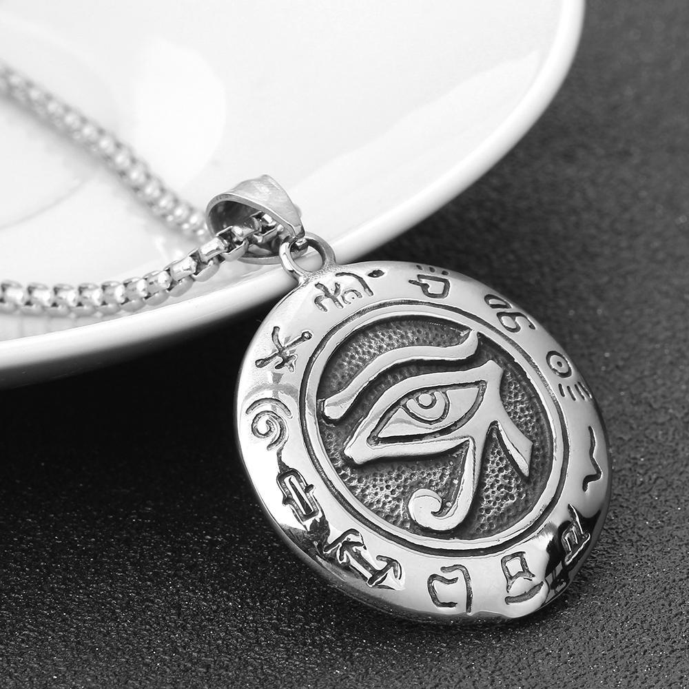 Новый кулон религиозный египетский Глаз Гора Древний Египет кулон ожерелье ювелирные изделия из нержавеющей стали