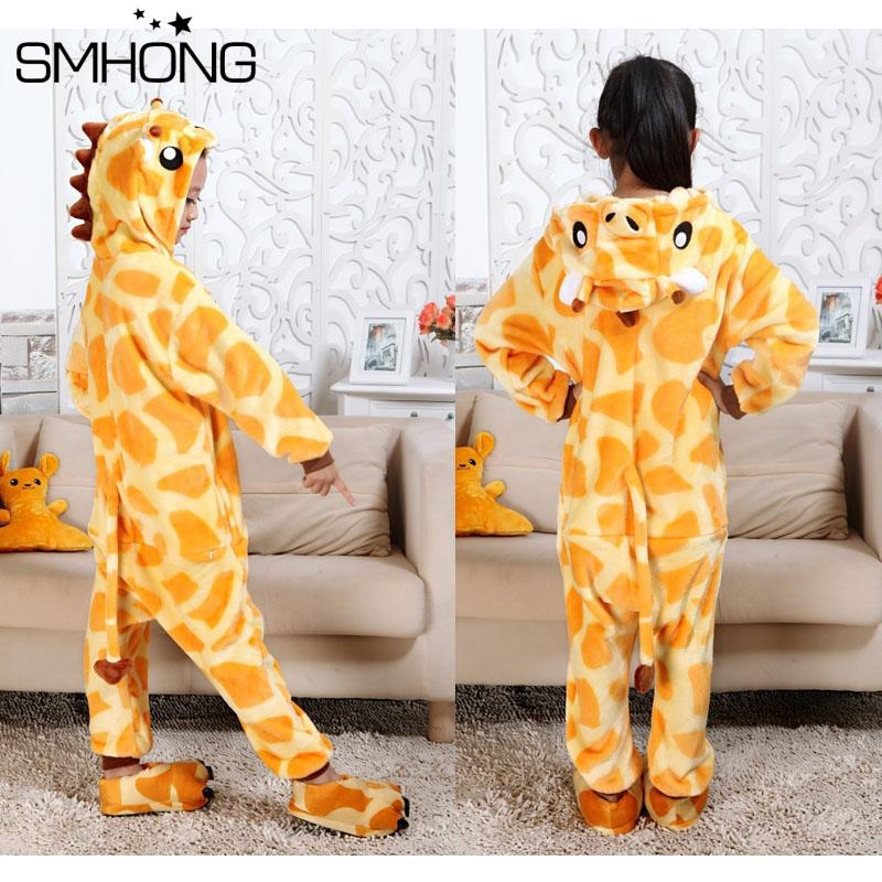 Smhong Winter Flannel Kids Pajamas Sets Animal Onesie Costumes Giraffe Cosplay Pajamas Baby Childreen Sets 3 12 Years Toddler Girls Pajamas Fleece Pajamas ... & Smhong Winter Flannel Kids Pajamas Sets Animal Onesie Costumes ...