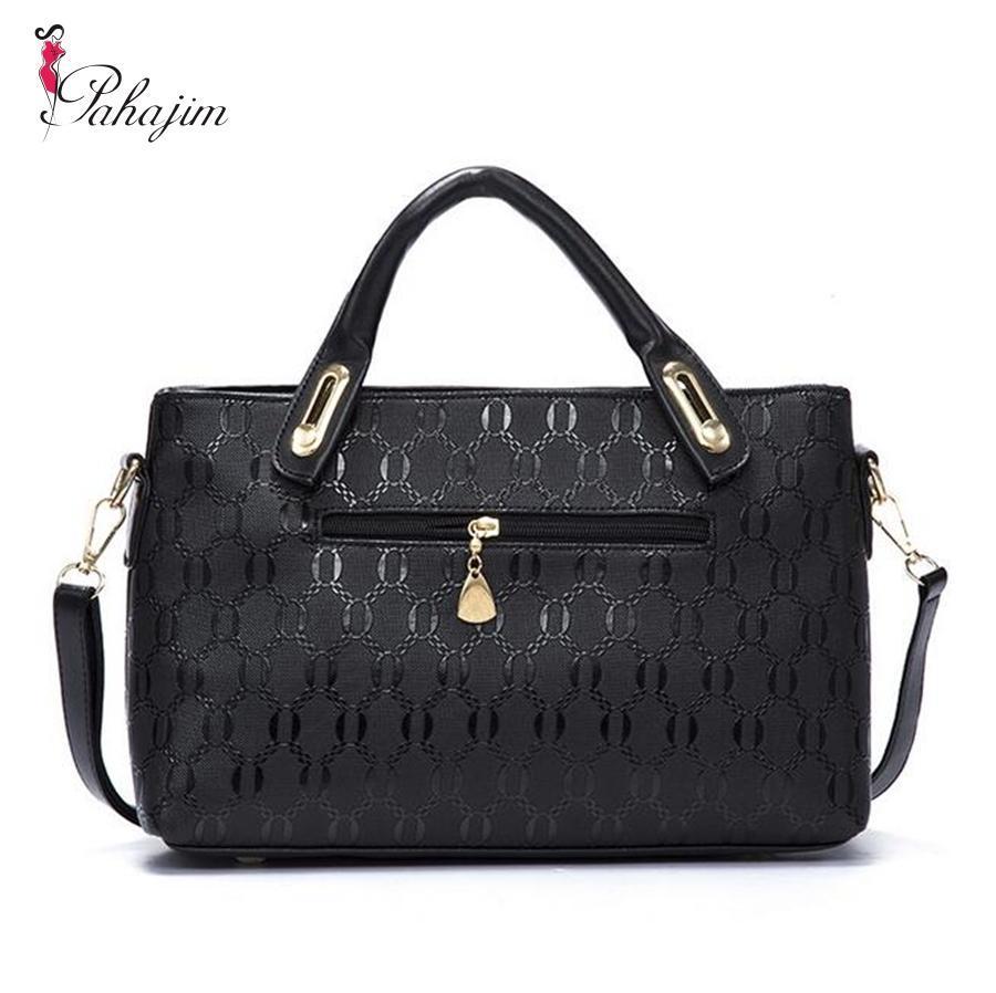 1730a3ba7377 Wholesale Pahajim Famous Brand Women Bag Top Handle Bags 2017 Fashion Women  Messenger Bags Handbag Set PU Leather Bag Pink Handbags Branded Handbags  From ...