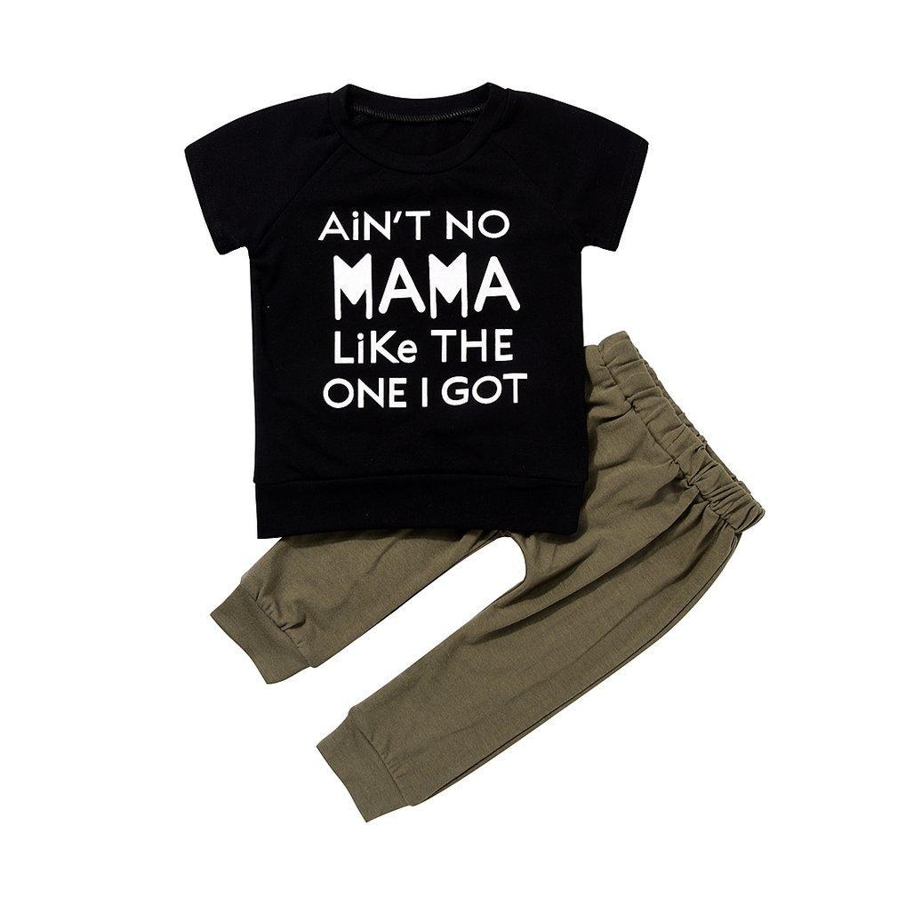 404da6080 Fashionable Baby Kid Toddler Boys Letter Printed Outfits Girls Shirt Tops +  Pants 2PCS SET Clothing Set Summer Clothes Kids Sets