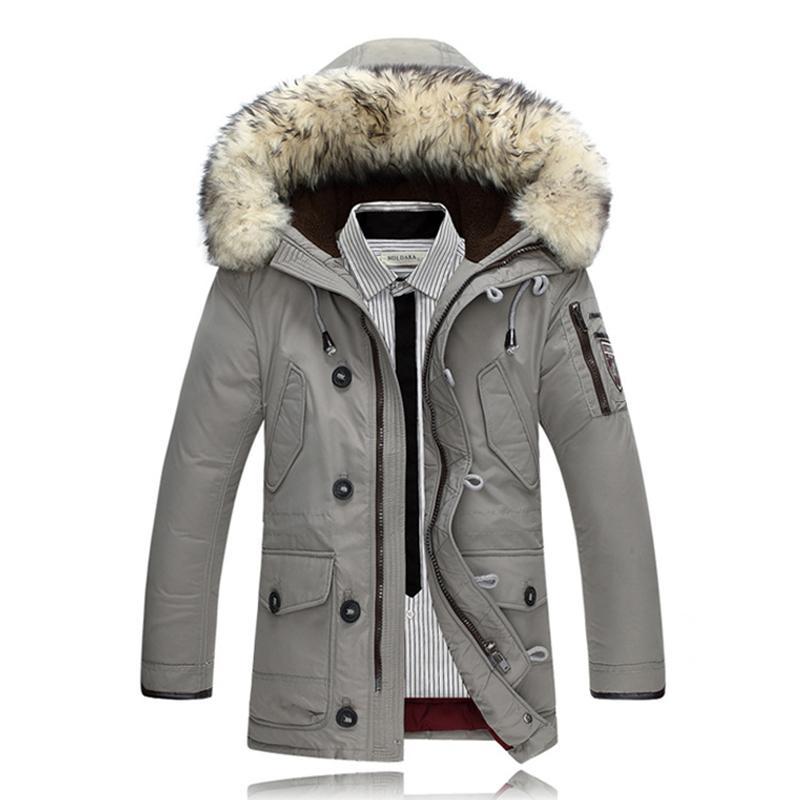 66c0721f1a 2017 Uomini Anatra Piumini Cappotti Giacche Invernali Parka Uomo Piumino  Rabbit Fur Parka Giacca Feminina Marca Abbigliamento Soprabito per Uomo
