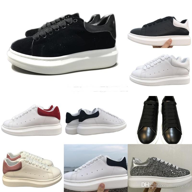 more photos 120f6 32a86 Großhandel Günstige Auf Verkauf Mens Womens Sportschuhe Luxus Plattform  Sneaker Flache Beiläufige Schuhe Dame Black Pink Gold Lauf Tennis Komfort  35 43 Von ...