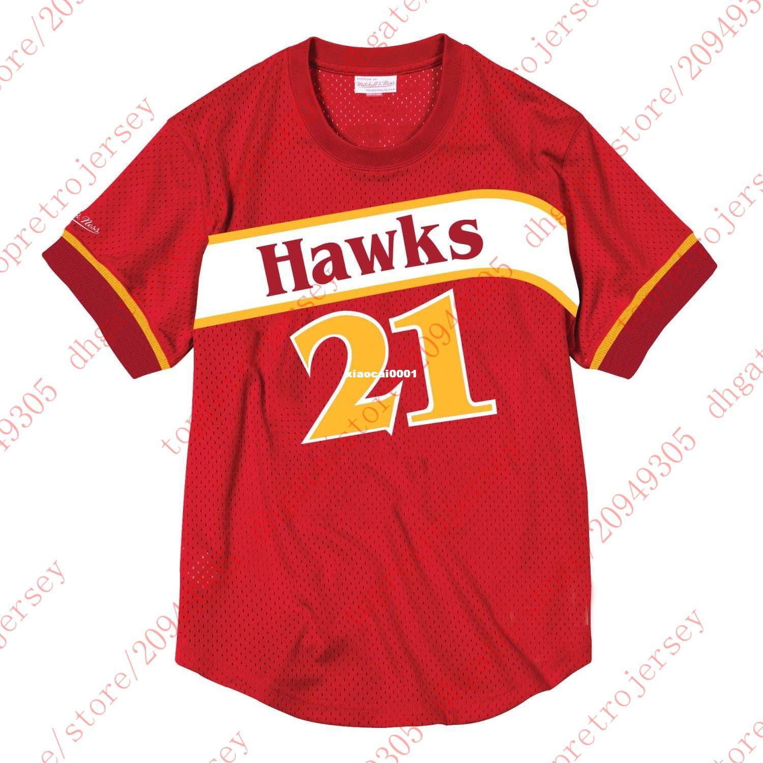 11d998b90f6 Cheap Throwbacks Custom  21 Dominique Wilkins Mitchell   Ness Red ...