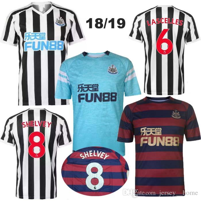Compre Top Qualidade Tailandesa 2018 2019 Newcastle United Branco Preto  Casa Camisa De Futebol 2018 ANITA GAYLE RITCHIE DIAME AYOZE MITROVIC  Camisas De ... 2f01b69f330dd