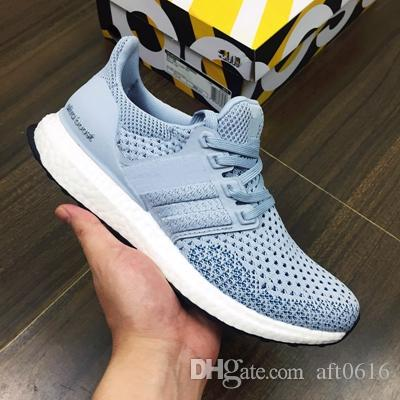 New real Boost 3.0 3.5 4.0Triple Black and WhiteParley x Blue grey Men Women Running Shoes Ultra Boosts ultraboost sport Sneaker