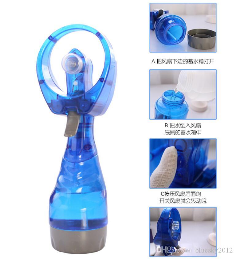 ini Hand Held Spray Portable Travel Handle Water Spray Cool Mist Fan Bottle Mist Sport Travel Beach Camp 2018