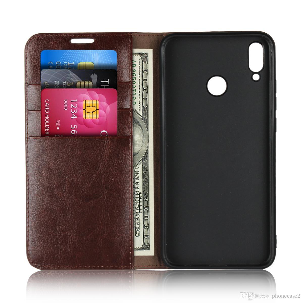 cheap for discount 0c61f 09e04 Flip Case For huawei honor 8X Case Cover Genuine Leather Case Luxury Wallet  Card Slots cases for For huawei honor 8X