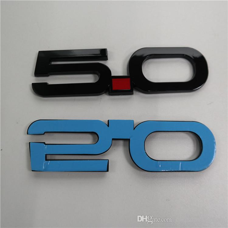 Custom 3D 5.0 Mustang GT Gloss Black Fender Emblem Badge Sticker 3M StickOn For F150 Falcon Coyote