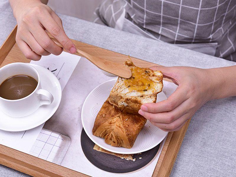 Wooden Utensil Cutlery Butter Knife Cheese Dessert Jam Spreader Breakfast Tool New 15*2.5CM Japanese Style Tableware butter knives wood