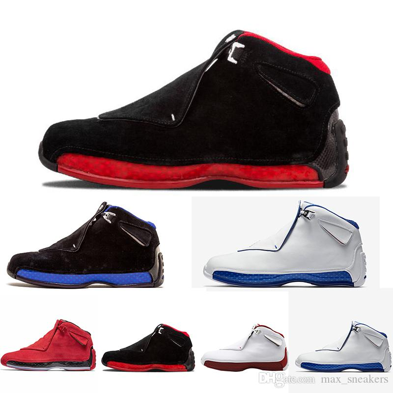 04b39d83 Cheap 18 18s Mens Basketball Shoes Toro OG ASG Black White Red Bred Royal  Blue Athletic Sports Sneakers trainers designer