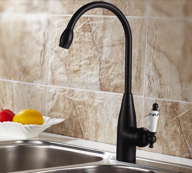 Black/Antique Copper Kitchen Faucet Hot and Cold Sink Faucet Swivel Sink  Kitchen LU4138