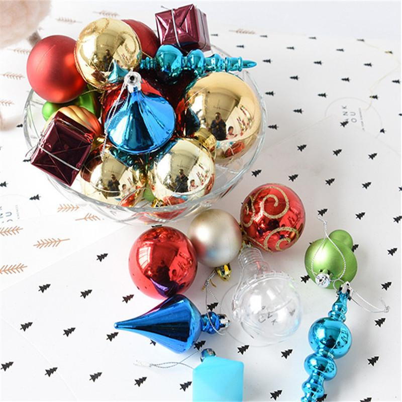 One Box Random Mixed Frames Christmas Balls Xmas Tree Ornaments