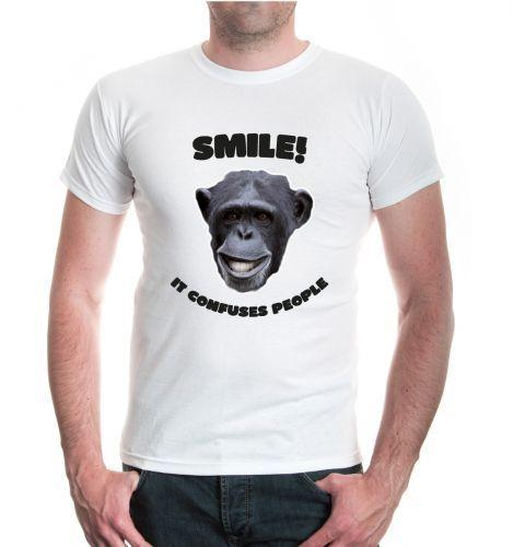 Grosshandel Herren Unisex Kurzarm T Shirt Smile It Verwirrt Menschen