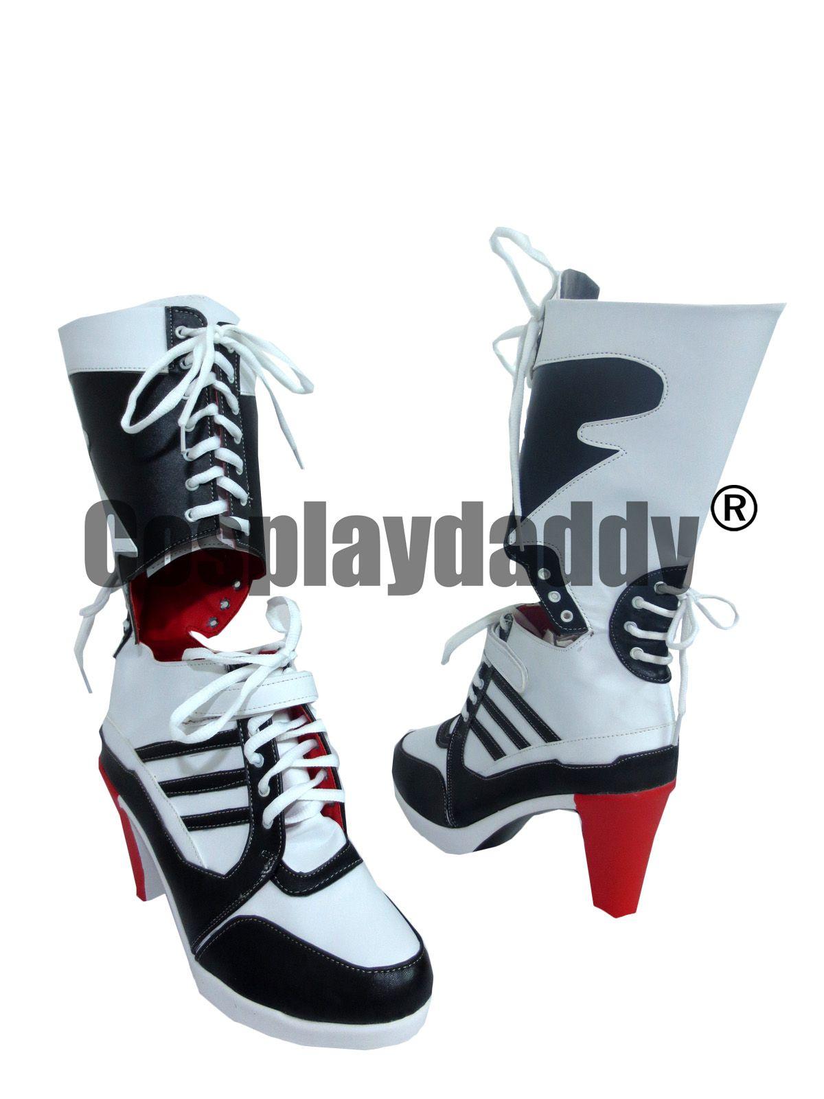 1bdc0b16ffa5 2019 Batman Harley Quinn Suicide Squad Halloween High Heels Cosplay Shoes  Boots From Timyuan2000