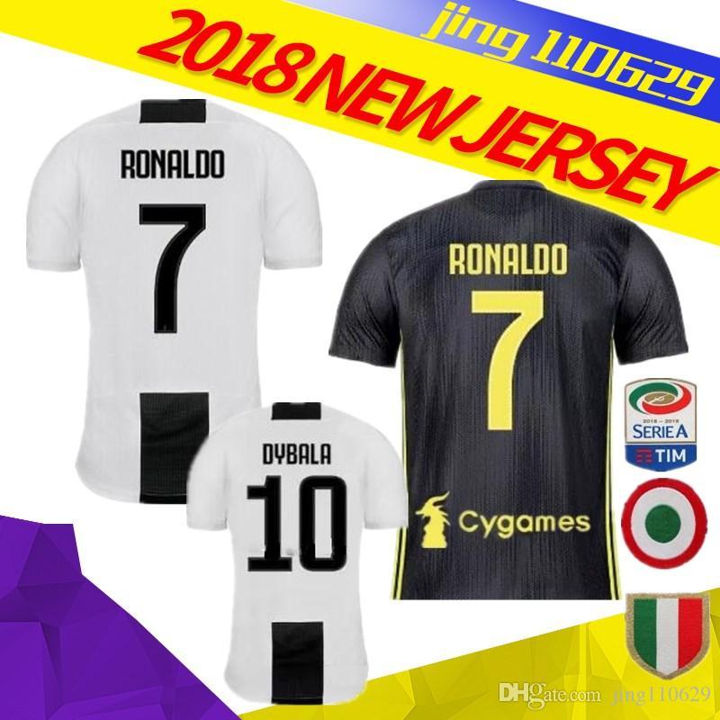 37a16400e 2019 RONALDO DYBALA 18 19 HIGUAIN HOME AWAY Soccer Jersey Football Shirt  MANDZUKIC CHIELLINI Camiseta 2018 Juventus BERNARDESCHI Maillot De Foot  From ...