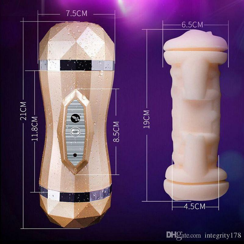 Realistic Oral Deep Throat with Tongue Teeth Artificial Vagina Male Masturbators Vibrator Silicone Pussy Oral Sex Toys for Men
