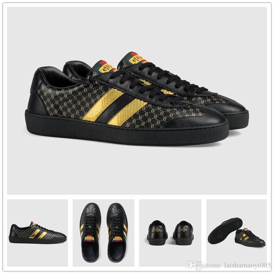 cd060b6cc1b Top Men Women Sneakers Loafers Designer Luxury Brand Embroidery Small Bee  Tiger Head Snake Casual Flat Shoes Unisex Zapatos Trainers 36 45 Munro Shoes  Vegan ...