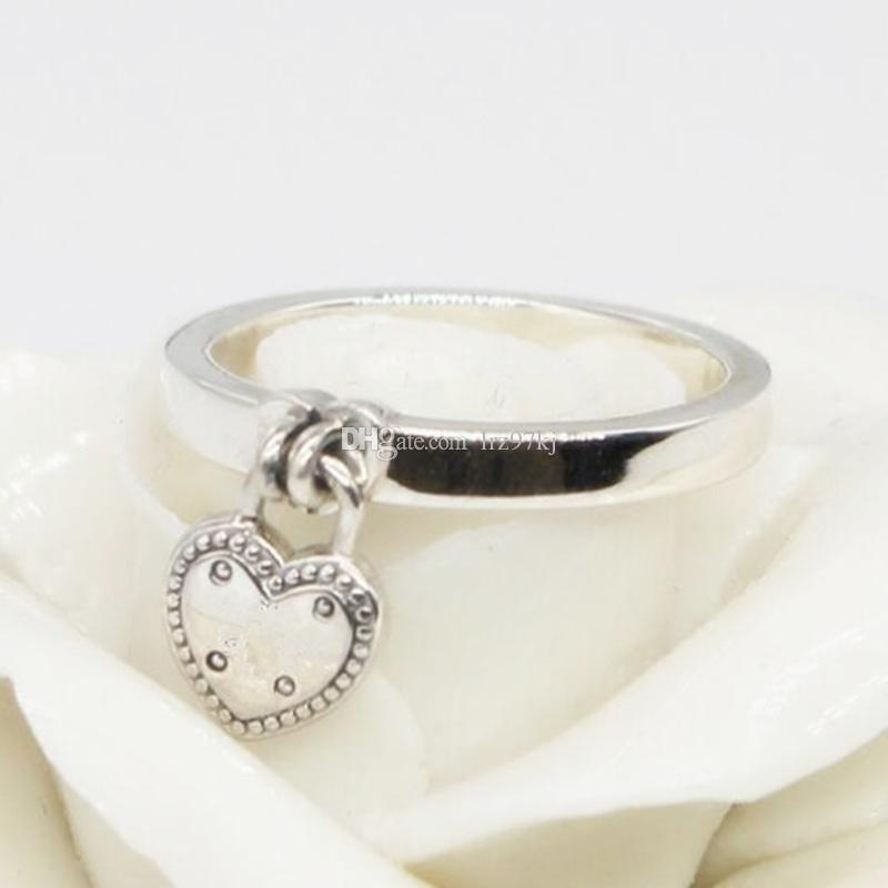 159e195c7 2019 High Quality 100% 925 Sterling Silver Love Lock Ring With Clear CZ  European Pandora Style Jewelry Charm From Lrz97kj, $16.49 | DHgate.Com